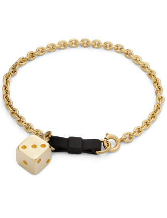 Bow Tie Bracelet With Dice
