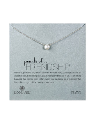 Sterling Silver Pearls Of Friendship Necklace