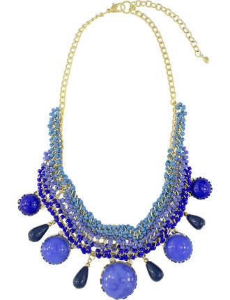 Circle Stone Short Necklace