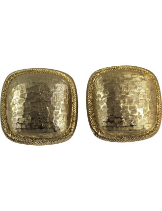 MONET 1950-60s Square Clip On Earrings