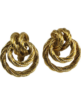 AVON Knot Hoop Clip Earrings