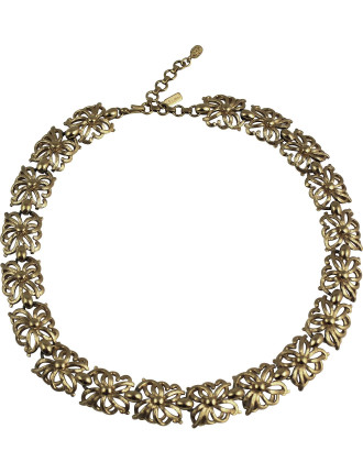 MONET 1970s Flower Collier Necklace