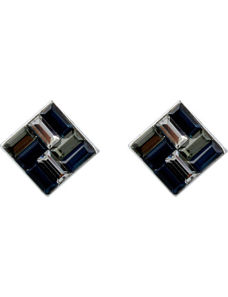 Baquette Tile Stud Pierced Earrings