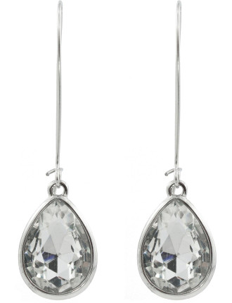 Tear Drop Long Drop Eurowire Earrings