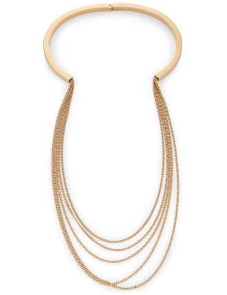 Delfine Long Rigid Necklace 85cm