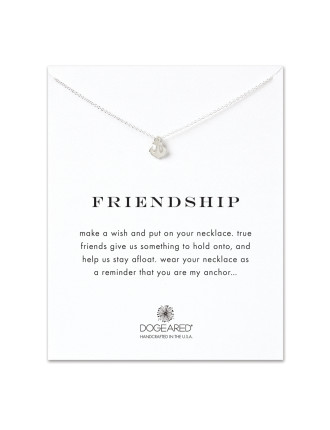 Sterling Silver Friendship Anchor Necklace