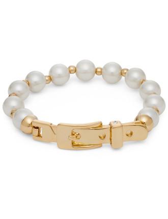 Pearl Buckle Stretch Bracelet