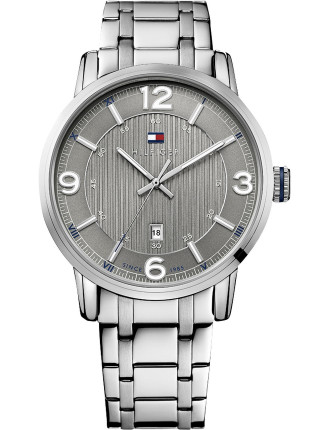 Mens Rnd 3 Hand With Date Grey Dial S/S Bracelet