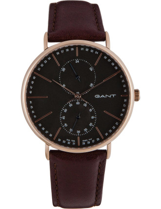 Wilmington, Rose Gold, Grey Dial - Brown Leather