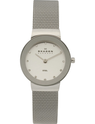 Skagen Silver Tone Mesh Steel Watch