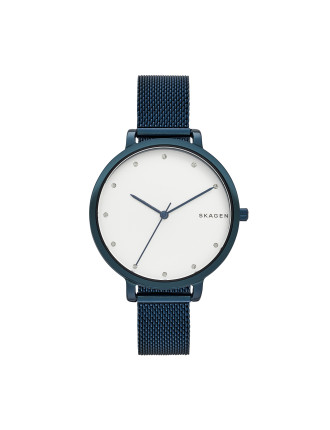 Hagen Blue Stainless Steel Mesh Watch