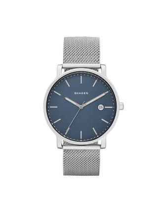 men david jones hagen silver stainless steel mesh watch