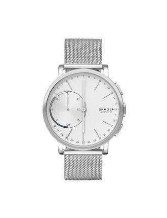 Hagen Silver Stainless Steel Hybrid Smartwatch
