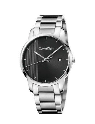 City Gent Polished And Brushed Stainless Steel Bracelet