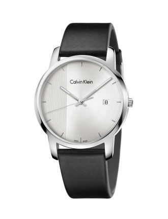 City Gent Polished Stainless Steel Case, Silver Dial