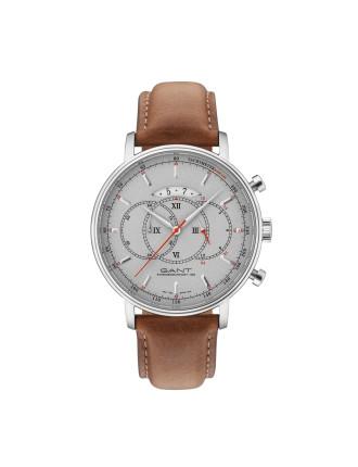 CAMERON Watch - Grey Dial, Cognac Strap