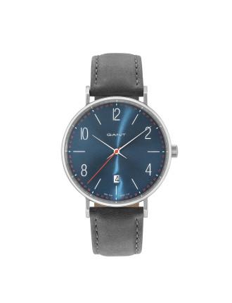 DETROIT Watch - Blue Dial, Grey Strap