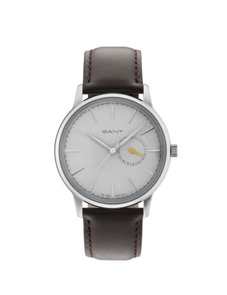 STANFORD Watch - Grey Dial, Brown Strap