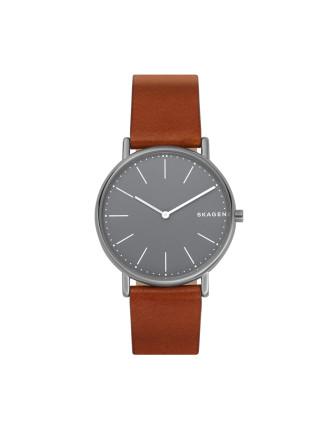 Signatur Slim Brown Watch