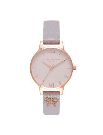 Embellished Strap Vintage Bow Watch