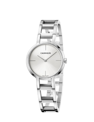 CK cheers lady polished SS bracelet silver dial 32mm