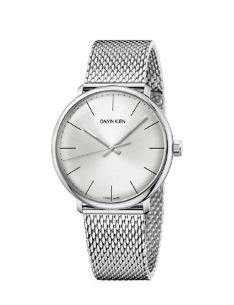 CK high noon polished SS case silver dial 40mm