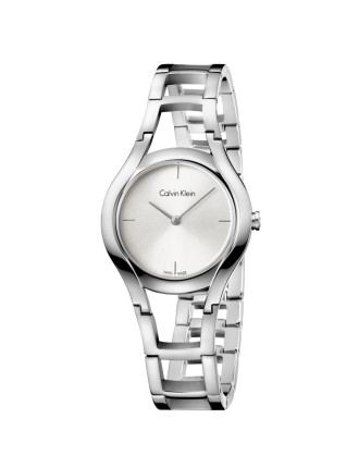 Class Polished Stainless Steel Bracelet, Silver Dial