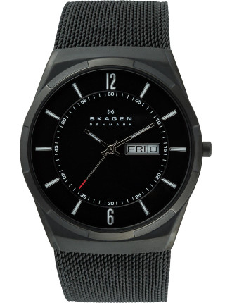 Aktiv Black Mesh Men's Titanium Watch