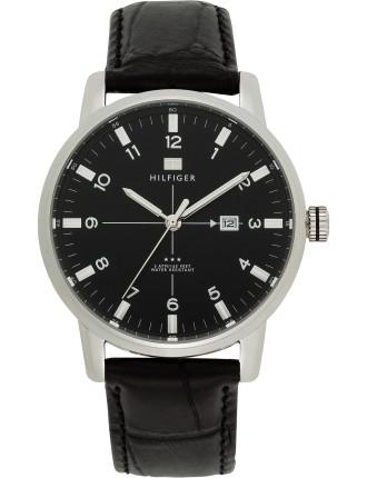 men s watches tommy hilfiger david jones mens classic leather 3 hand watch
