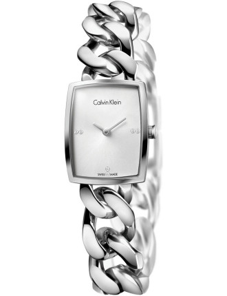 Amaze Ladies Silver Dial On Stainless Steel Bracelet, Medium