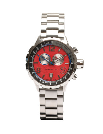 Red Dial/Silver Strap