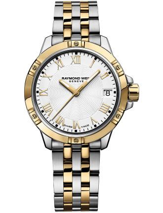 Tango Quartz Watch - Steel/Yellow