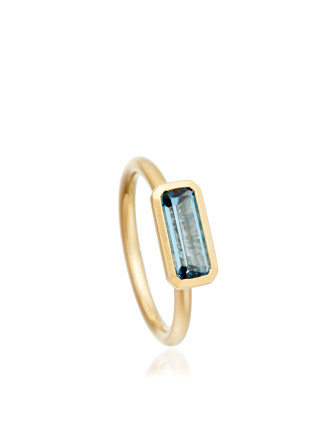 London Blue Topaz Prismic Ring