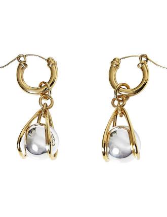 Respiro silver basket earrings