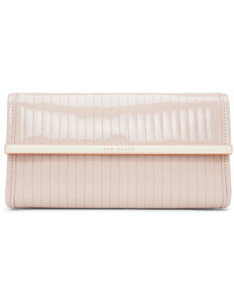 Quilted Enamel Clutch Bag