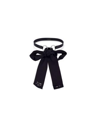 La Follain Silk and Leather Belt