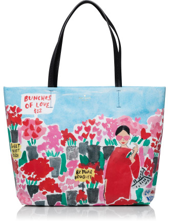 Be Mine Rose Scene Hallie Tote