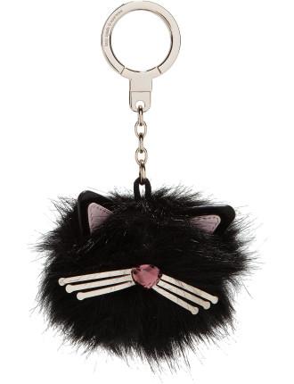 Cat Pouf Key Fob
