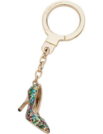 Glitter Shoe Keychain Key Fobs