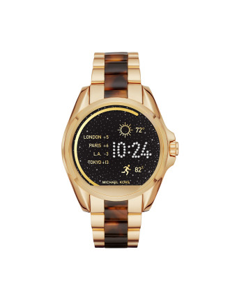 Bradshaw Gold-Tone & Tortoise Acetate Display Watch