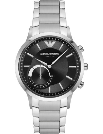 Renato Silver Stainless Steel Hybrid Smartwatch