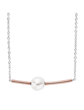 Agnethe Multi Steel And Pearl Necklace