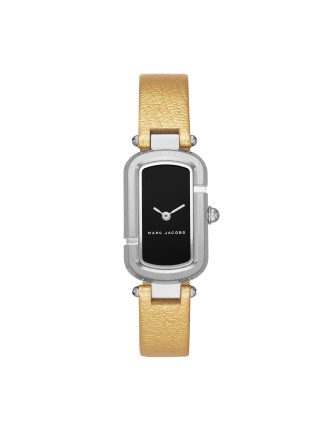The Jacobs Gold, Metallic Leather And Stainless Steel Watch