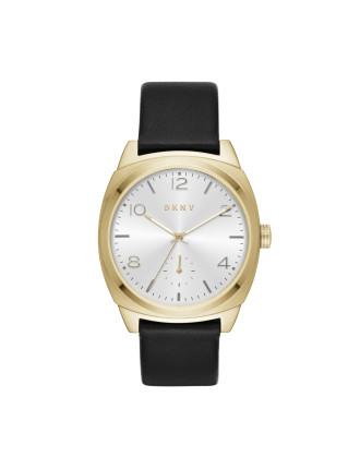 Broome Black Leather And Stainless Steel Watch