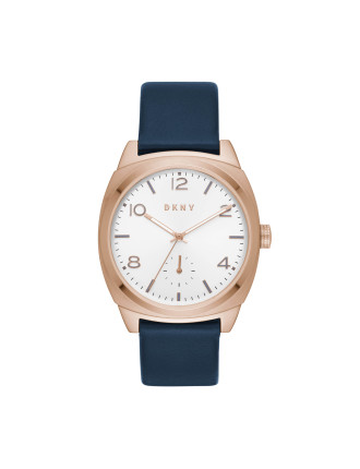 Broome Blue Leather And Stainless Steel Watch