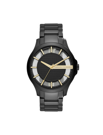 Hampton Black And Gold Stainless Steel Watch