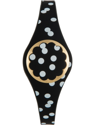 Ksny Black And White Dot Scallop Activity Tracker