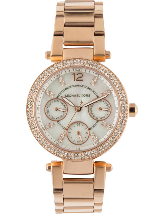 Parker Pave Rose Gold-Tone Watch