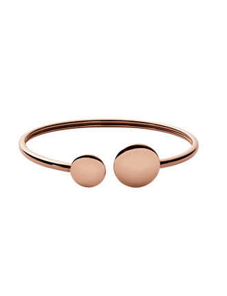 Elin Steel Rose Gold-Tone Bracelet