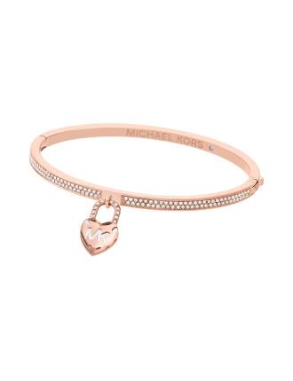 Logo Stainless Steel Rose Gold-Tone Bracelet